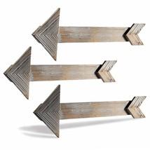 Wooden Arrows Rustic Wall Mount Decor Arrows Farm Room 3 Pcs Sign Set NEW - $30.69