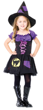 Girls Size 7-10 Peasant Style Witch Costume Leg Avenue - $29.50