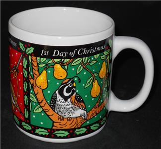 Vintage 1993 Westwood 1st 2nd 3rd Day of Christmas Coffee Cup Mug #1 of 4