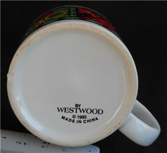 Vintage 1993 Westwood 4th 5th 6th Day of Christmas Coffee Cup Mug #2 of 4