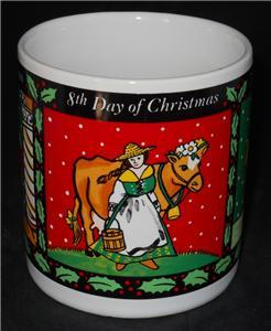 Vintage 1993 Westwood 7th 8th 9th Day of Christmas Coffee Cup Mug #3 of 4