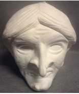 Unfinished Plaster Large Halloween Witch Head Statue Craft ArtMinds  - $29.99