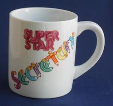 Vintage APPLAUSE Super Star Secretary Coffee Cup Mug 1986 - $19.95