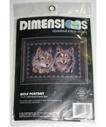 1993 Dimensions Counted Cross Stitch Kit Wolf P... - $7.49