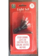10 bulb Battery operated Clear White Christmas Holiday light Set Christm... - $3.99