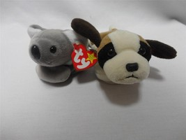 TY Beanie Babies Mel the Koala 1996 and Bernie the Dog 1996 Lot of 2 - $15.00