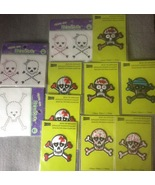 11 Iron On Assorted Skull and Crossbones Pirate... - $17.99