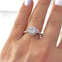 Dainty Flower White Diamond Cocktail Ring in St.Silver Sz 7  #121 - $64.34