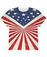 American Flag Sunburst All Over Youth T Shirt - £20.09 GBP