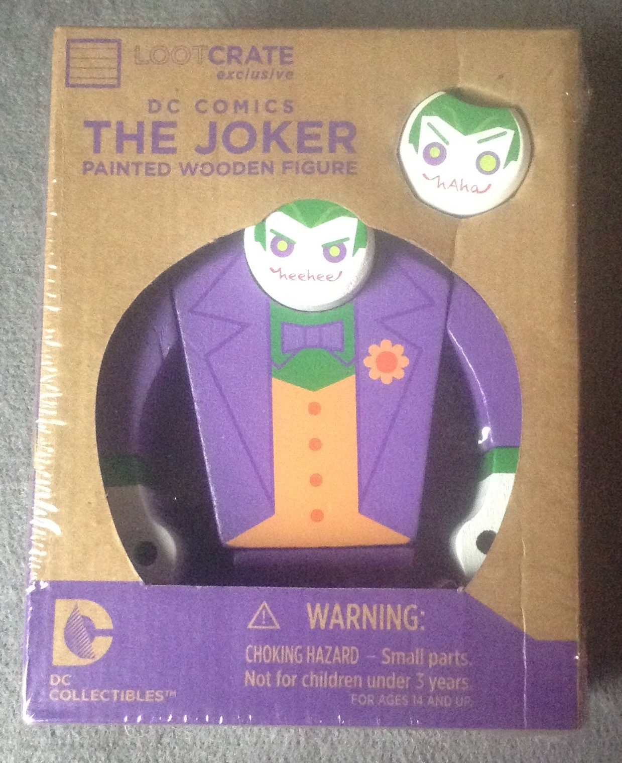 Lootcrate Exclusive DC Comics The Joker Painted Wooden Figure