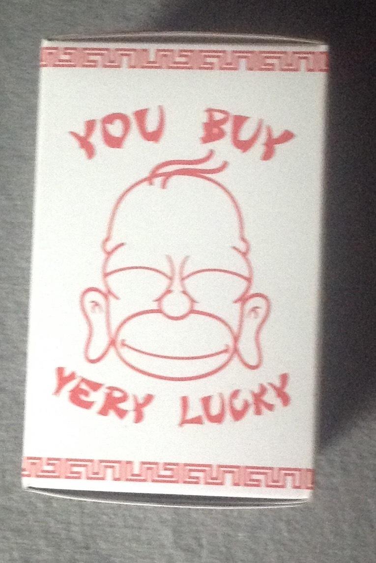 Homer Simpson Golden Buddha LOOTCRATE Exclusive kidrobot The Simpsons Art