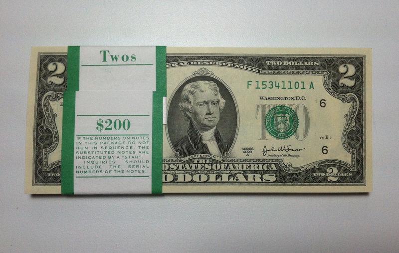 new two dollar bill - photo #37