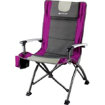 Camping Chair Back Folding Beach Travel Fishing Sport Camp Stool Seat Ou... - €49,21 EUR