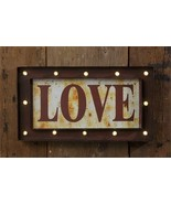 Rustic new LOVE Led Metal Wall Sign - $38.00