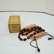 Vintage 1980 Avon Turtle Bay Collection Beaded Screw on Necklace - 23 in - $9.00