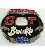 DSQUARED Men's GOT BREWSKIE LARGE Silver and Enamel Belt Buckle - $49.00