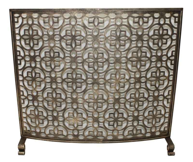 french tuscan old world burnished gold iron flowers fireplace screen 35 39 39 w fireplace screens. Black Bedroom Furniture Sets. Home Design Ideas