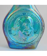 Wheaton ~ Benjamin Franklin ~ Blue Carnival Glass ~ Decanter Bottle Jar ... - $29.95
