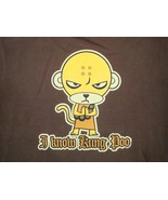 I Know Kung Poo Monkey Martial Arts Karate MMA Kung Fu Funny T Shirt M - $17.17