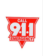 """Emergency Call 911 Highly Reflective Vehicle Decal 8"""" - Red And Silver - $18.76"""