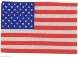 "AMERICAN FLAG REFLECTIVE VINYL DECAL - 1.5"" x 2"" REFLECTIVE U.S. FLAG DECAL - $2.96"