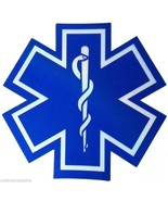 "STAR OF LIFE 12 x 12"" Highly REFLECTIVE Ambulance Decal - Star of Life E... - $29.45"
