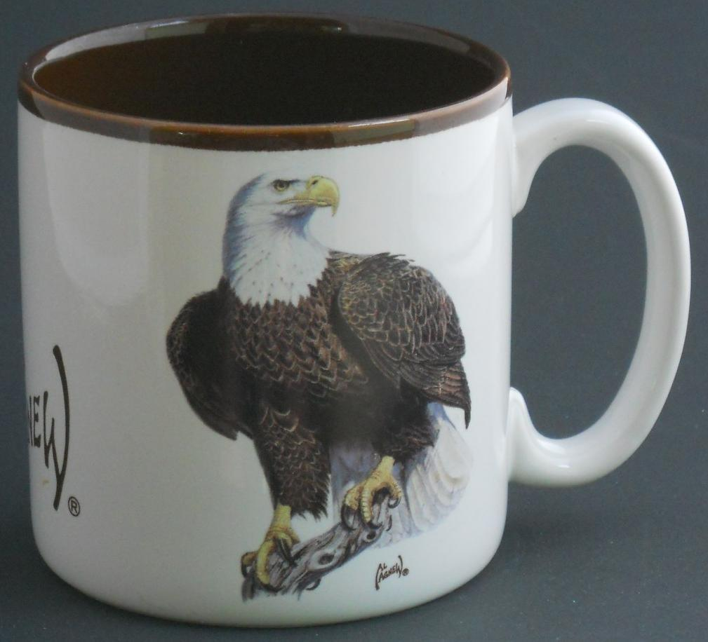 Wildlife Collection 1997 Eagle Ceramic Coffee Cup Mug by Al Agnew