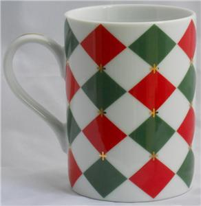 Williams-Sonoma Harlequin Coffee Cup Mug Made In Japan
