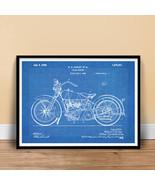 HARLEY DAVIDSON 1928 MOTORCYCLE POSTER Blueprint US Patent Poster Print ... - $24.72