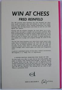 Win At Chess by Fred Reinfeld Book