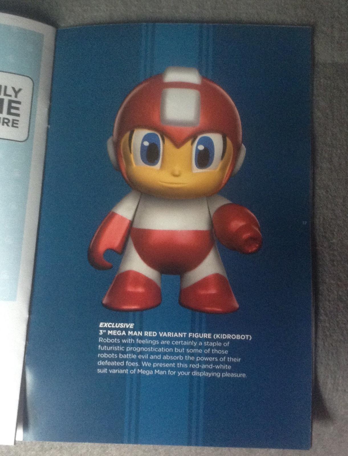 "3"" Mega Man Red Variant Figure Mini Blind Box LOOTCRATE exclusive kidrobot"