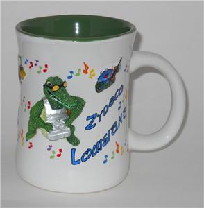 zydeco Louisiana Cajun Music 3D Cup Mug Frog Alligator Crocodile Crab Creole