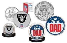 Best Dad - OAKLAND RAIDERS 2-Coin US Set Quarter & JFK Half Dollar NFL L... - $14.95