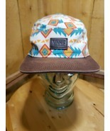 Vans OFF THE WALL Skateboarding Logo 5 Panel Hat Cap Aztec Print Strapback - $534,14 MXN