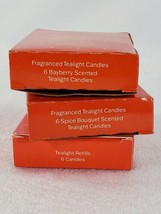 3 Avon Fragranced Tealight Candles Bayberry Spice Bouquet Refills 6 Each  - $24.23
