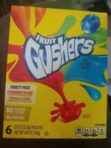 Fruit Gushers Variety Pack strawberry splash & Tropical box of 6 (Lot of... - $24.74