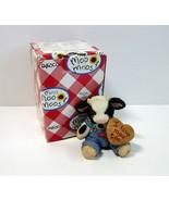 "1994 Enesco Mary's Moo Moos Cow Holding ""I Love Moo Too"" Sign Figurine #... - $8.99"