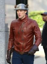 Men's Flash Season 2 Jay Garrick Teddy Sears Leather Jacket Costume - $69.99