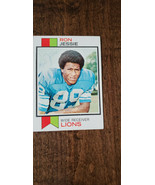 1973 Topps Signé Auto Sur Carte Rookie Ron Jessie Lions Rams Factures Ka... - $19.96