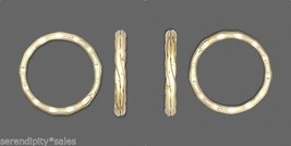 "Lot 50 KEY RINGS ~ 25mm 1"" Split Ring ~ Hammered GOLD Metal ~ Sturdy - $9.88"