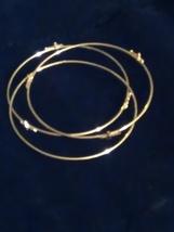 Thin gold shut up cross Bangles - $8.50