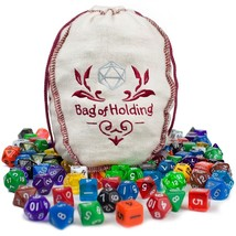 polyhedral dice pack, 140pc Bag Of Holding rpg tabletop polyhedral dice ... - $50.99