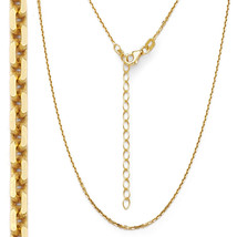 Men/Women's 925 Silver 14K Yellow Gold Thin Cable Link Italian Chain 1.3mm - $19.12