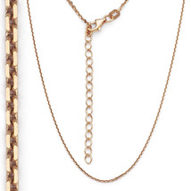 Men/Women's 925 Silver 14k Rose Gold Covered Thin Cable Link Italian Chain 1.3mm - $19.12