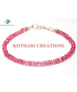 "PINK COLOR COATED CRYSTAL 3-4MM RONDELLE FACETED 7"" LOOSE BEADS BEADED B... - $8.50"