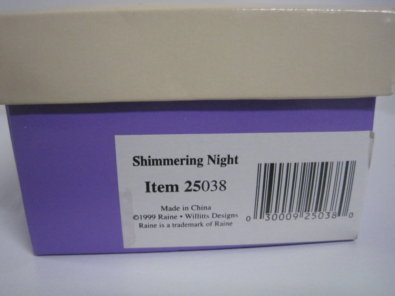 Raine & Willitts Just the Right Shoe 1999 Shimmering Night with Box