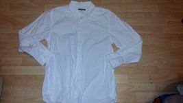 White long sleeve button down shirt White casual long sleeve button up top XL - $6.86