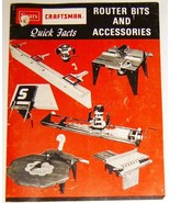 1979 Sears CRAFTSMAN Tool Catalog/Booklet - ROUTER BITS & ACCESSORIES - $9.00