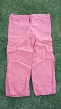 Women's orange linen pants Womens Orange casual dress office linen pants L - $4.90