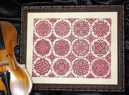 Rosetta monochromatic geometric design cross stitch chart Ink Circles - $14.40